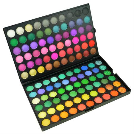 Image of   Deluxe 120 farvepalette øjenskygge - Mega Eyeshadow pallette