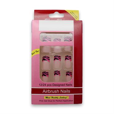 N/A – Kunstige negle pink delicius no 12 - uden lim fra fashiongirl