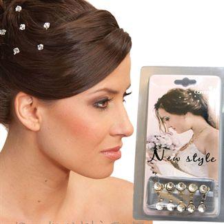 N/A – Hair bling hårkrystaller - diamanter til håret (10 stk) på fashiongirl