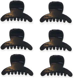 6 stk Mini hårklemmer 1,5 cm Sort thumbnail