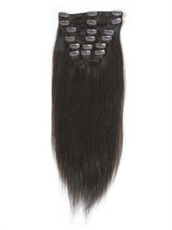 Image of   7set kunstigt fiber hår mellembrun 27#