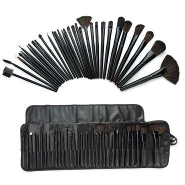 N/A – Technique pro® 32 set makeup børste sæt - 32 dele i sort fra fashiongirl