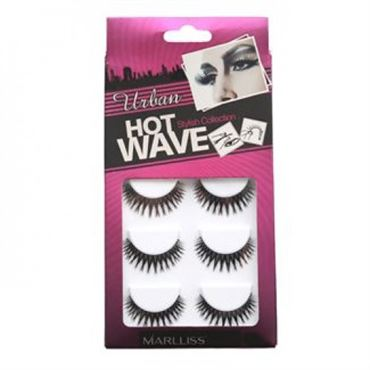 N/A Kunstige vipper - hot wave collection 5pack no. 3404 - 5 par fra fashiongirl