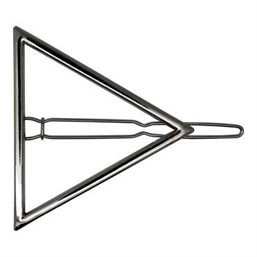 N/A – Soho® trekant hårclip - sølv på fashiongirl
