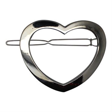 N/A – Soho® hjerte metal spænde- sølv fra fashiongirl