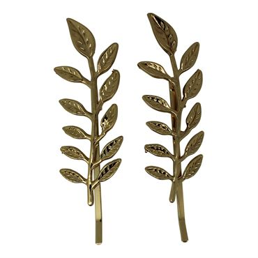 Soho® leaf/blad hårspænde - guld fra N/A på fashiongirl