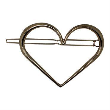 N/A – Soho® hjerte xl  metal spænde- guld på fashiongirl