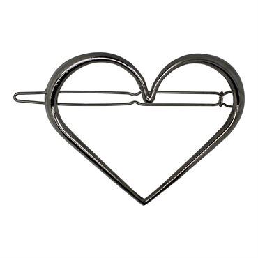N/A Soho® hjerte xl metal spænde- sølv på fashiongirl