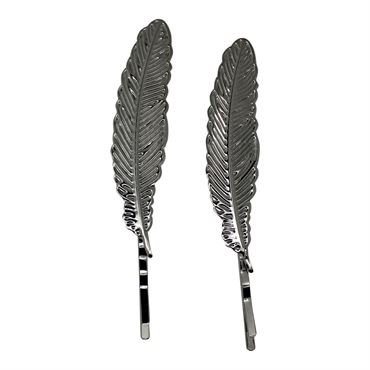 N/A Soho® flower leafs hårnåle 2 stk. - sølv fra fashiongirl