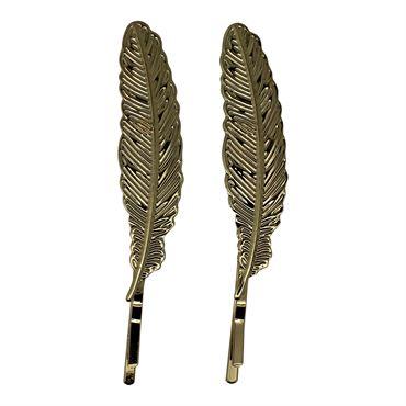 Soho® flower leafs hårnåle 2 stk -guld fra N/A fra fashiongirl