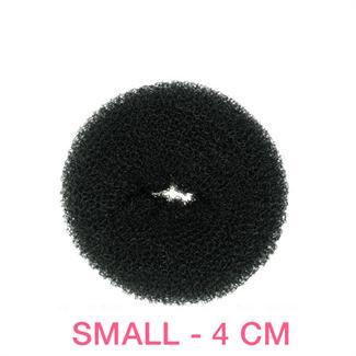 Hår donut - sort - 4 cm fra N/A fra fashiongirl