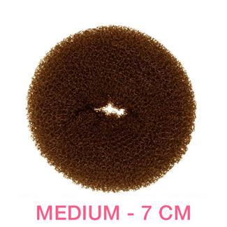 Hår Donut - Brun - 7 cm thumbnail