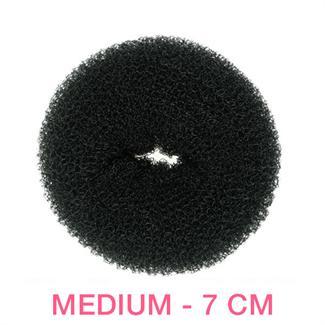N/A – Hår donut - sort - 7 cm på fashiongirl