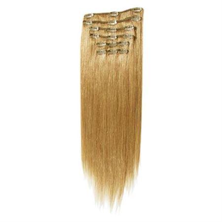 7set kunstigt fiber hår mellembrun 27#