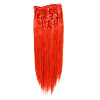 Image of   7set kunstigt fiber hår ildrød