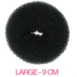 N/A Hår donut - sort - 9 cm på fashiongirl