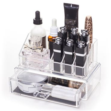 Image of   AVERY® Makeup Organizer med 1 skuffe + top