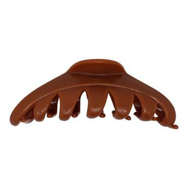 N/A Design hårklemme model style 10 cm - brun på fashiongirl