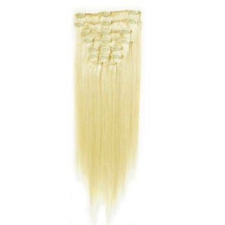 Image of 7set kunstigt fiber hår platin Blond 60#