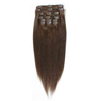 Image of 7set kunstigt fiber hår chokoladebrun 4#