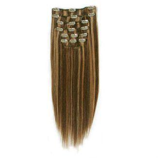 N/A Clip on hair #4/27 50 cm mix på fashiongirl