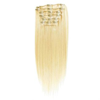 Image of   7set kunstigt fiber hår Blond 613#