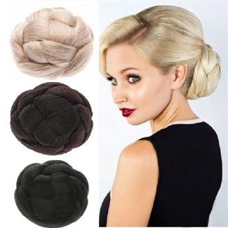Faux hair donut tvisted hair fl farver fra N/A fra fashiongirl