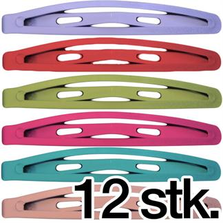 N/A Hårspænder i pastel farver - 12 stk på fashiongirl