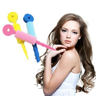 Hair curler foam pakke m/ 3 stk -  skumcurlere fra N/A på fashiongirl