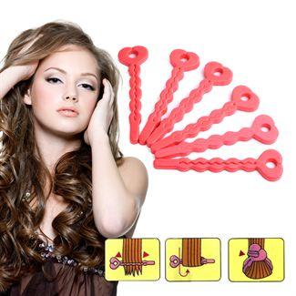 Hair curler sæt sponge 6 stk -  Skumcurlere