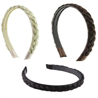 N/A – Faux hårbøjle m/ twisted hair fl. farver fra fashiongirl