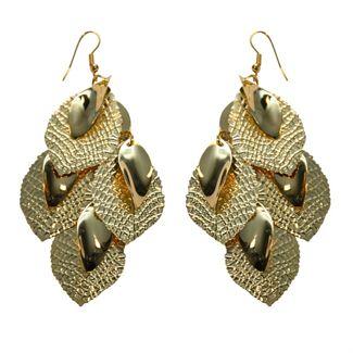 N/A – ørering sæt guld blad mix fra fashiongirl