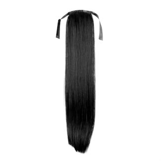 Pony tail fiber extensions straight sort 1# fra N/A på fashiongirl