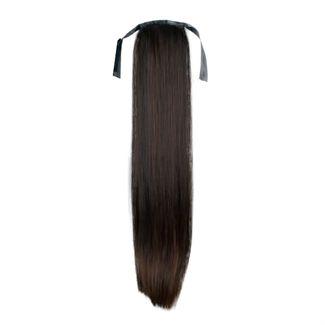 N/A Pony tail fiber extensions straight mørkebrun 2# fra fashiongirl
