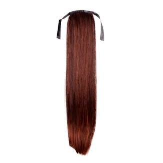 Pony tail Fiber extensions rød straight farve 33#