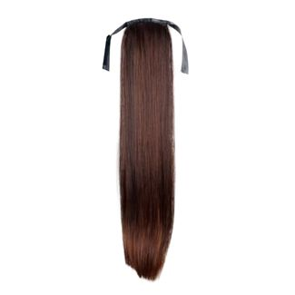 N/A Pony tail fiber extensions straight brun 4# på fashiongirl
