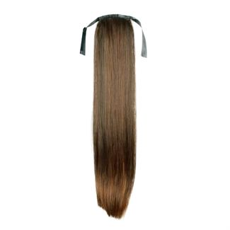 N/A – Pony tail fiber extensions straight lysebrun 6# på fashiongirl