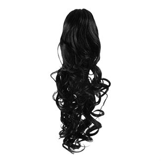Pony tail fiber extensions curly sort 1# fra N/A fra fashiongirl