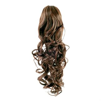 N/A – Pony tail fiber extensions curly lysebrun 6# fra fashiongirl