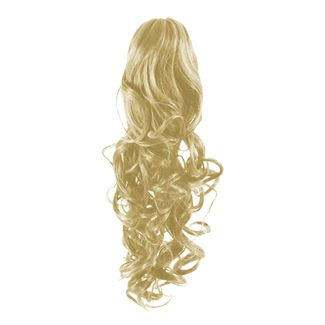 Pony tail fiber extensions curly blonde 613# fra N/A fra fashiongirl