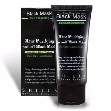 Shills Black Mask Purifying Peel-off Mask - Mod hudorme, bumser, uren hud