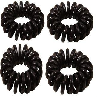 N/A – Spiral elastikker- sort 4 stk på fashiongirl