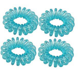 Image of   Spiral elastikker turkis blå 4 stk.