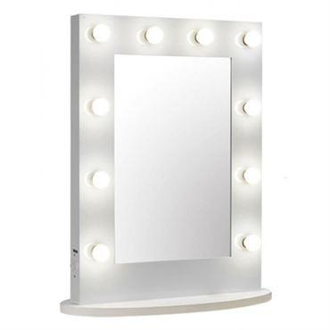 N/A – Uniq hollywood xl bordspejl med 10 pærer, hvid på fashiongirl