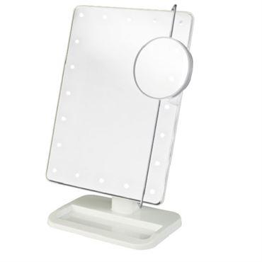 N/A Uniq® hollywood makeup spejl med lys, hvid - led mirror x10 på fashiongirl