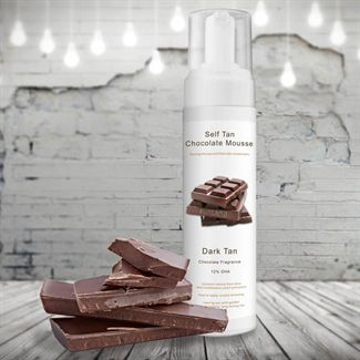 Spray tan chocolate mousse 200ml. dark tan fra N/A fra fashiongirl