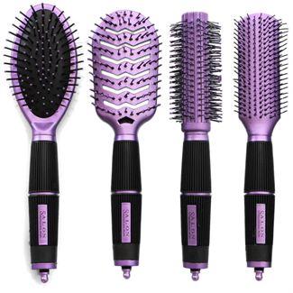 Hårbørste sæt Purple Edition - Salon Professional - Perfekt gaveidé