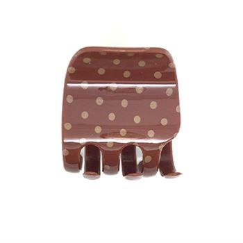 N/A Soho® polkadot hårklemme - brun fra fashiongirl