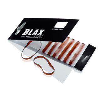 N/A – Blax hårelastikker 4mm 8 stk amber - brun fra fashiongirl