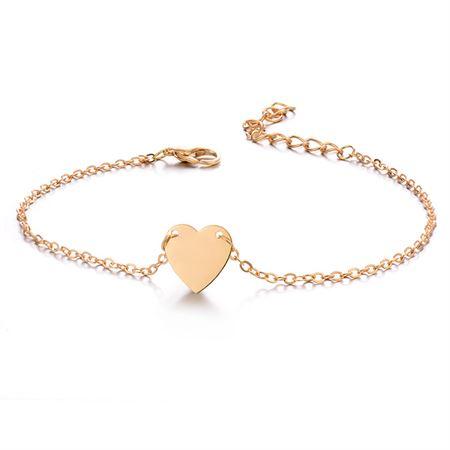 Ankelkæde med hjerte, guld